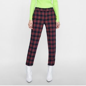New Straight Fit Plaid Pants